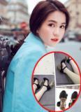 Ngọc Trinh khoe giày hàng hiệu tinh xảo khiến fans xuýt xoa