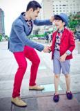 Style Cha và Con cùng sành điệu