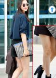 Hoa hậu Hàn Lee Honey lộ đùi to và thô với váy ngắn