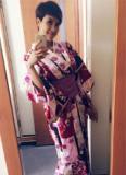 Phương Mai thích thú diện trang phục Yukata tham dự Lễ hội đèn lồng