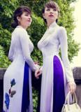 Áo dài Ngô Nhật Huy đẹp lãng mạn dưới tiếc trời lạnh của Paris