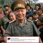 Sao Việt bùi ngùi chia sẻ về tin Đại tướng Võ Nguyên Giáp từ trần