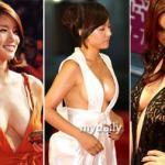 Những bộ váy 'hở hang' nhất thảm đỏ xứ Hàn