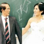 Cặp đôi U70 chụp ảnh cưới lãng mạn trong trường học