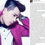 Trịnh Thăng Bình bức xúc vì bị 'phàn nàn' khi dự sự kiện tại Hà Nội