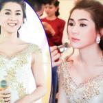 Lâm Chi Khanh xinh như công chúa trong hậu trường show diễn áo dài