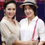Em gái Phương Linh ăn mặc gợi cảm đi cổ vũ chị làm giám khảo