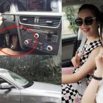 Hoa hậu Diệu Hân đi chân trần lái xế hộp bạc tỷ mới tậu