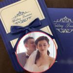 Lộ thiệp cưới trang nhã của hotgirl Mi Trần