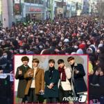 Hơn 30.000 fan chen lấn, xô đẩy để xin chữ ký của EXO