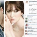 Sơn Tùng MTP xuất hiện trên fanpage lớn nhất của Song Hye Kyo