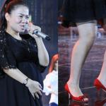 Thu Minh 'bụng vượt mặt' vẫn diện giày cao gót, hát cực 'sung'