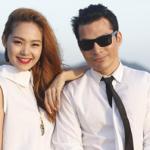 Trần Bảo Sơn thân mật với Minh Hằng trước biển