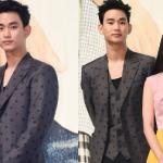 Kim Soo Hyun 'đỏm dáng' với vest chấm bi