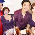Bồ tỷ phú trẻ trung đến chúc mừng Vũ Hoàng Việt nhận bằng tốt nghiệp