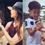 Hồ Ngọc Hà vui vẻ chơi đùa cùng con trai Subeo