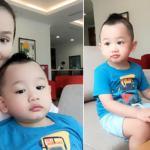 Con trai Lã Thanh Huyền càng lớn càng khôi ngô và phong độ