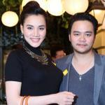 Trang Nhung dáng chuẩn đi dự tiệc cùng chồng sau sinh