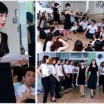 Giám khảo Xuân Lan nhiệt tình luyện tập cho thí sinh 'Mẫu và Tài năng'