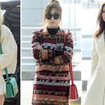Bộ ba TaeTiSeo (SNSD) 'đọ' thời trang tại sân bay