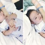 Con trai Tâm Tít vỗ về an ủi khi mẹ bị ốm
