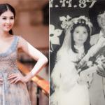 Hoa hậu Ngọc Hân tiết lộ ảnh cưới ngày xưa của bố mẹ