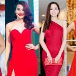 9 chiếc váy đỏ 'vạn người mê' của mỹ nhân Việt tuần qua