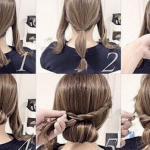 5 mẫu búi cuộn tóc vào trong đẹp và dễ làm