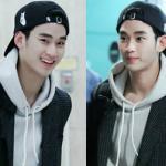 Kim Soo Hyun trẻ trung như nam sinh tại sân bay