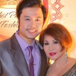 Vũ Hoàng Việt cùng Yvonne Thuý Hoàng diện cây xanh dự sinh nhật của nhà thiết kế Nhật Phượng