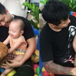 Tuấn Hưng hạnh phúc chơi cùng con trai