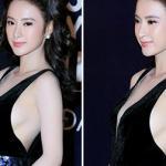Angela Phương Trinh suýt lộ ngực vì chiếc váy phản chủ