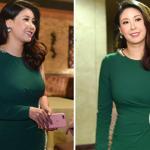 Hoa hậu Hà Kiều Anh diện váy 70 triệu lộ diện sau 3 tháng sinh con