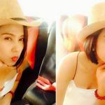 Việt Trinh khoe vẻ đẹp tươi trẻ trên đường đi làm từ thiện