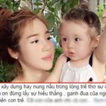 Elly Trần bức xúc khi hai con bị đem ra so sánh với những em bé khác