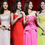 'Gái hư' Liễu Nham thay 6 bộ váy trong cùng một sự kiện