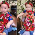 Con gái Trang Nhung đáng yêu khi diện áo dài