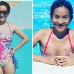 Vợ Bình Minh diện đồ tắm tự tin khoe body ở tuổi 40