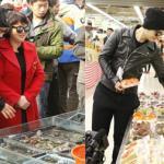 Huỳnh Hiểu Minh đảm đang đi chợ cùng mẹ