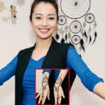Hoa hậu Jennifer Phạm 'xăm hình' Henna để thi khiêu vũ