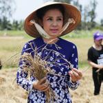 Việt Trinh chia sẻ khó khăn với bà con gặp hạn hán ở miền Tây