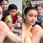 Trương Quỳnh Anh khoe dáng bên bể bơi sau vụ Tim 'ong bướm'