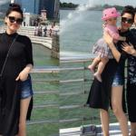 Vợ chồng Trang Nhung đưa con đi du lịch Singapore