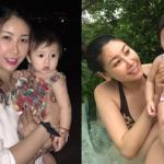 Hoa hậu Hà Kiều Anh gợi cảm khi đi bơi cùng con gái
