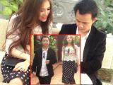 Đạo diễn Tạ Huy Cường đi chùa đầu năm cùng 'gái lạ'