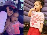 Con gái Phạm Quỳnh Anh cực yêu trong chuyến du lịch đầu năm