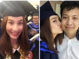 Diễm My 9x hôn bạn trai đại gia trong lễ tốt nghiệp Đại học