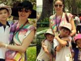 Hà Kiều Anh hào hứng cho các con đi Thảo Cầm Viên