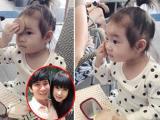 Con gái Lý Hải 'học đòi' trang điểm cực chuyên nghiệp