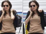 Angelina Jolie mệt mỏi đưa các con đi thăm Brad Pitt